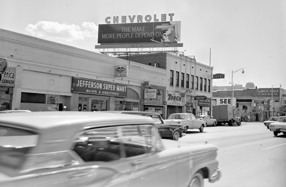 View from Third Street and Jefferson, circa 1960. (image: Library of Congress)