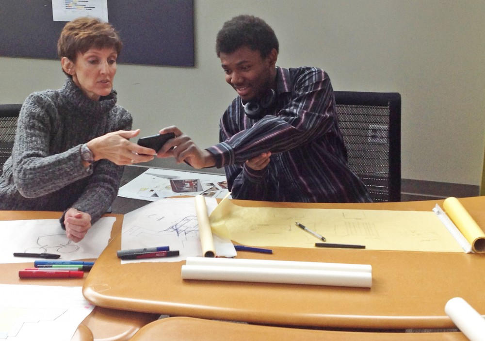 Ronda Reid learns about the finer points of Slam Ball (image courtesy David Reid)