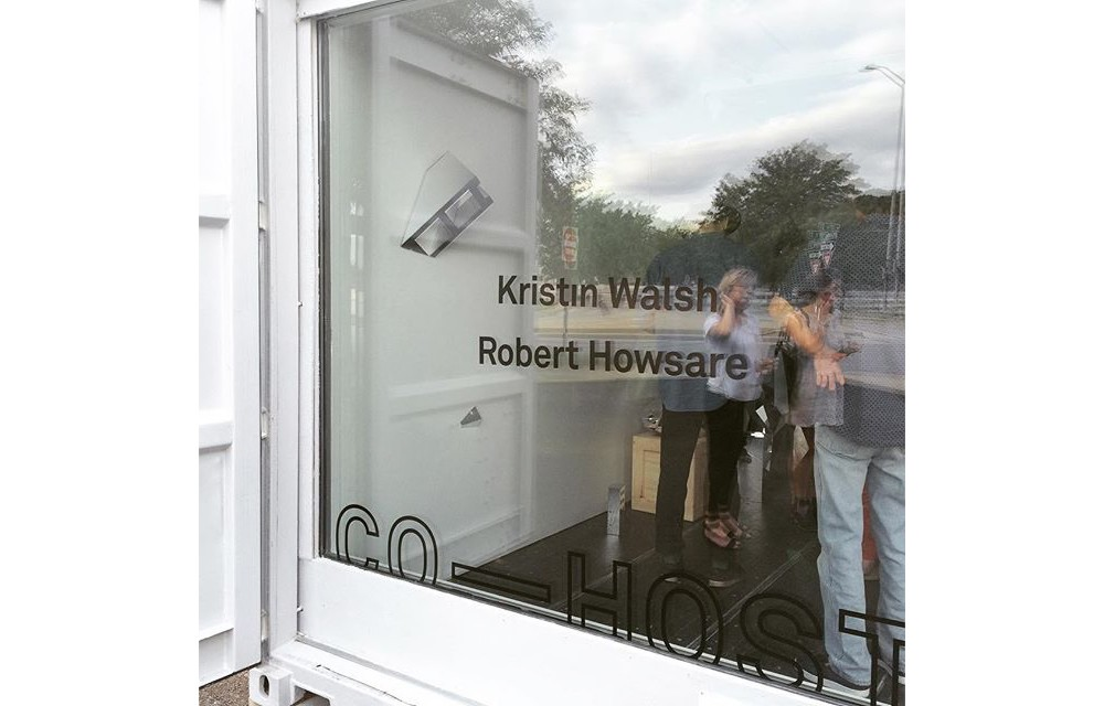 The inaugural exhibit features NYC-based Kristin Walsh and KC-based Robert Howsare. Image: 50/50.