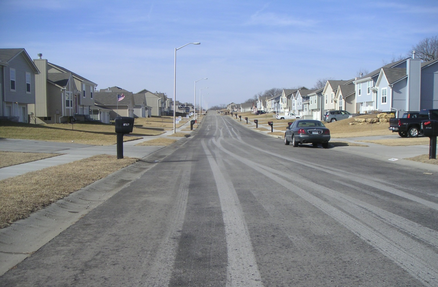 street with no trees