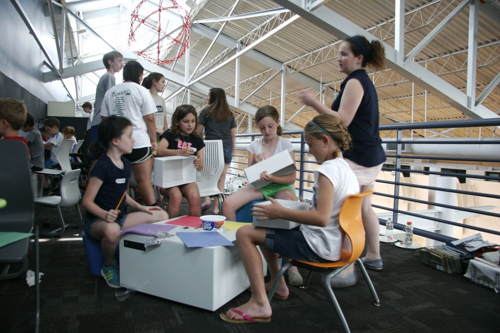 students and teachers in STEAM Studio