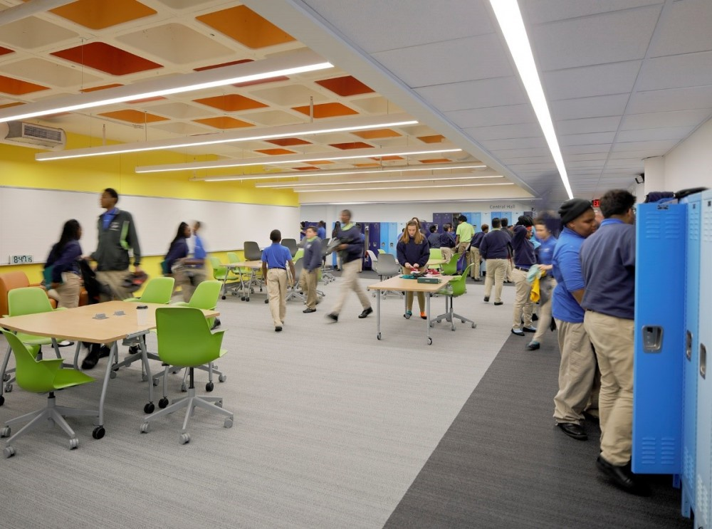 KIPP Endeavor Academy, renovated by Gould Evans, has given its inner-city students a renewed sense of pride and increased their passion for learning (Image credit: Aaron Dougherty).