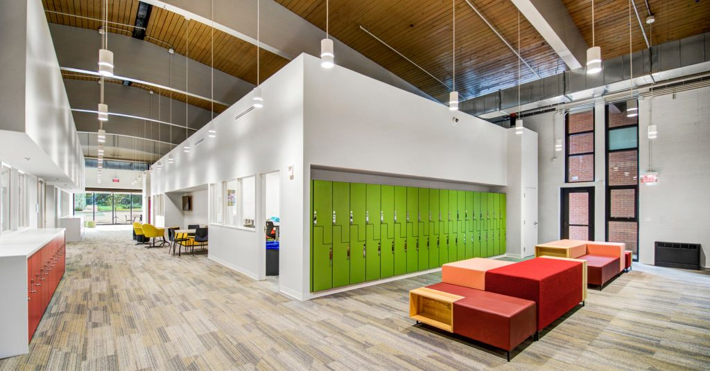 Mid-Century Gym Transformed for 21st-Century Learning